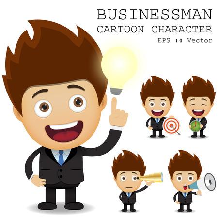 Businessman cartoon character Иллюстрация