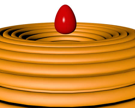 levitating: motley Easter egg levitating
