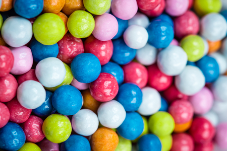 coated: coated colored dragee candies