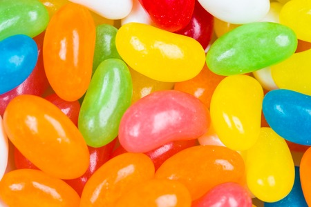 coated: coated colored jelly bean candies Stock Photo