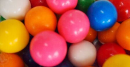 Colorful bunch of gumballs   Imagens
