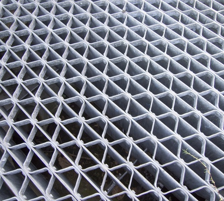 grating: Sewer Grating Stock Photo