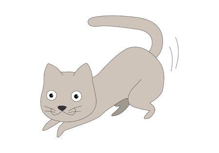 Comic animal character illustration, Cat Illustration