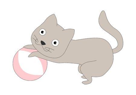 Comic animal character illustration, Cat