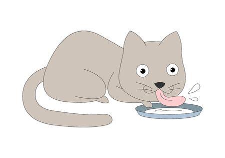 Comic animal character illustration, Cat Vektorgrafik