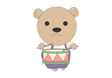 Comic animal character illustration, Bear Ilustração