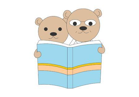 Comic animal character illustration, Bear