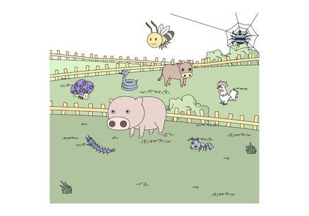 Comic animal character illustration