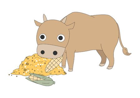 Comic animal character illustration, Cow
