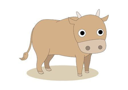 Comic animal character illustration, Cow Illustration