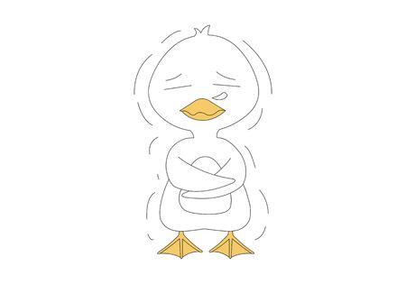 Comic animal character illustration, Duck