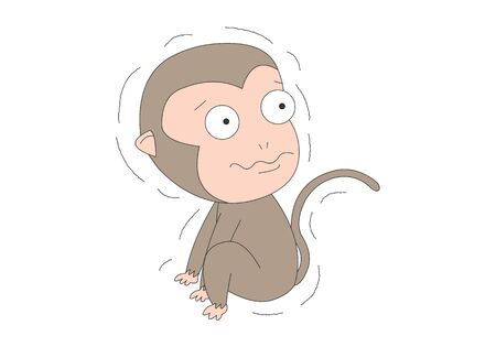 Comic animal character illustration, Monkeys