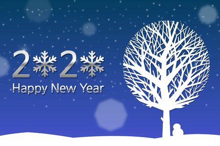 happy new year 2020 Ilustración de vector