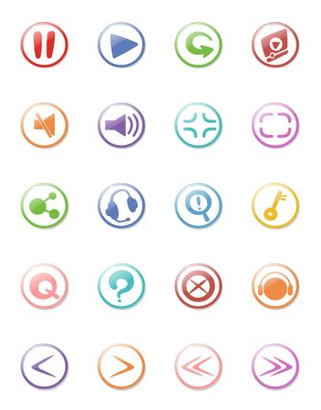illustration of web design icon collection