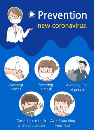 New virus prevention illustration poster