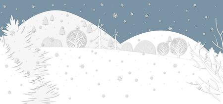 illustration of winter scenery Ilustração