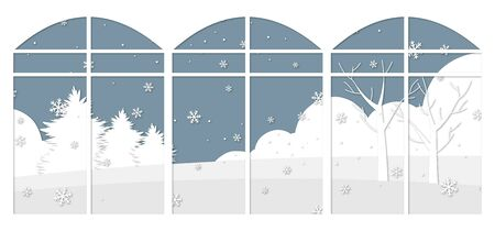 illustration of winter scenery Illustration