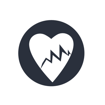 Lifeline of heartbeats on a paper on a clipboard icon vector isolated on white background for your web and mobile app design, Lifeline of heartbeats on a paper on a clipboard logo concept