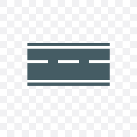 Road vector icon isolated on transparent background, Road concept
