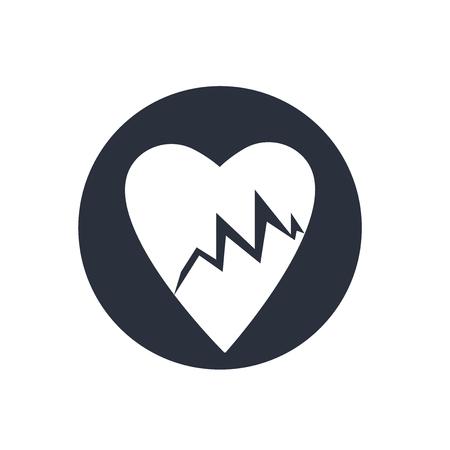 Línea de vida de los latidos del corazón en un papel en un vector icono del portapapeles aislado sobre fondo blanco para su diseño web y de aplicaciones móviles, Línea de vida de los latidos del corazón en un papel en un concepto de logotipo de portapapeles
