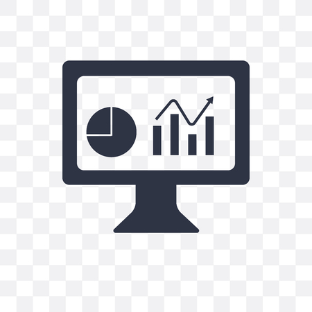 Dashboard vector pictogram geïsoleerd op transparante achtergrond, Dashboard concept
