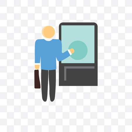 Knocking vector icon isolated on transparent background, Knocking concept