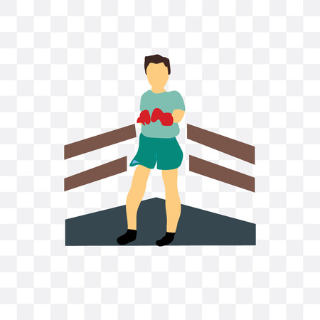 Boxer vector icon isolated on transparent background, Boxer concept