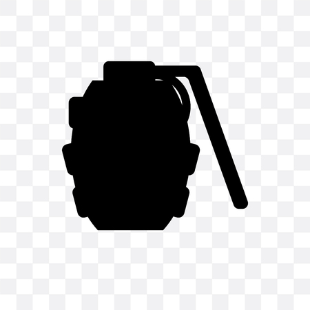 Grenade vector icon isolated on transparent background, Grenade logo concept