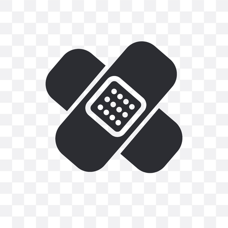 Icono de vector de Band aid aislado sobre fondo transparente, concepto de logo de Band aid