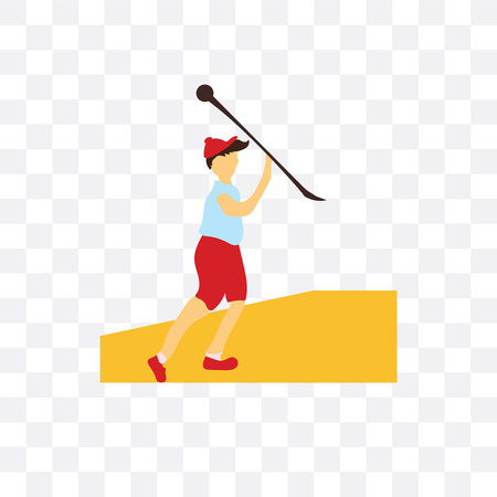 Javelin throwing athlete vector icon isolated on transparent background, Javelin throwing athlete logo concept