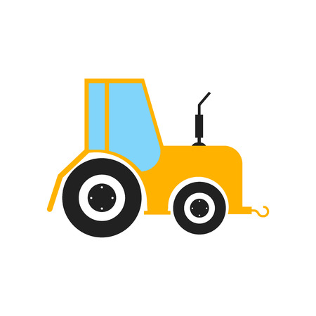 Tractor icon vector isolated on white background for your web and mobile app design, Tractor logo concept