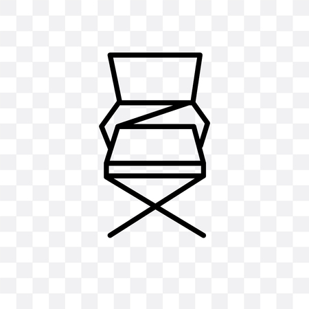Folding chair vector icon isolated on transparent background, Folding chair logo concept