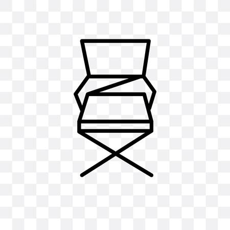 Icono de vector de silla plegable aislado sobre fondo transparente, concepto de logo de silla plegable