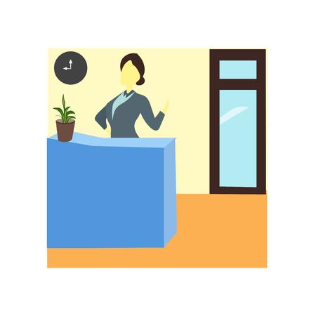 Odbiór wektora biura wektor na białym tle na białym tle do projektowania aplikacji internetowych i mobilnych, odbiór koncepcji wektora biura