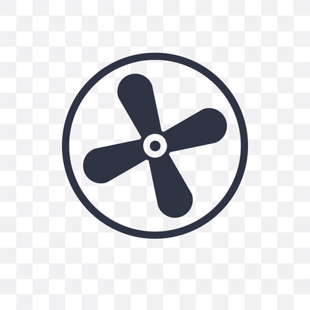 Icône de vecteur de ventilateur isolé sur fond transparent, concept logo Fan