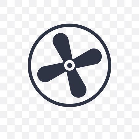 Icono de vector de ventilador aislado sobre fondo transparente, concepto de logo de ventilador