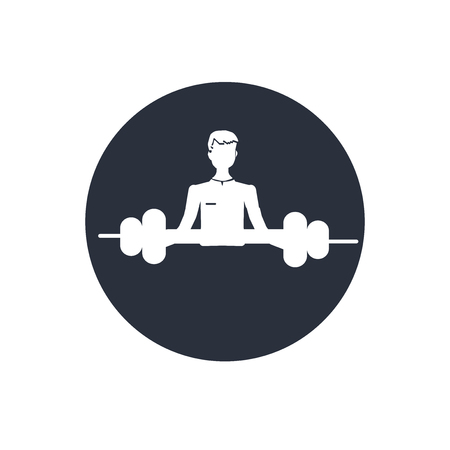 Weight silhouette for medical sport practice icon vector isolated on white background for your web and mobile app design, Weight silhouette for medical sport practice logo concept