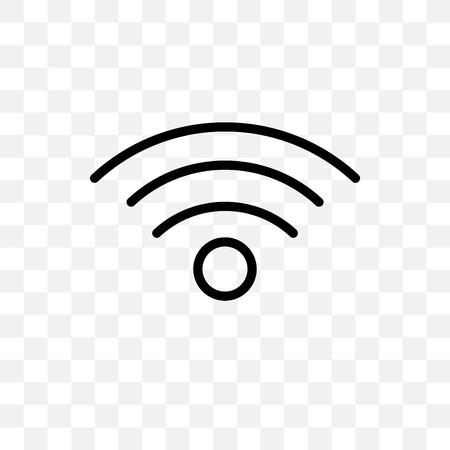 Icona di connessione vettoriale isolato su sfondo trasparente, concetto di marchio di connessione Vettoriali