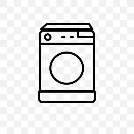 Top load washer vector icon isolated on transparent background, Top load washer logo concept Logo