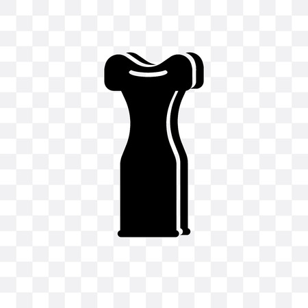 Long dress vector icon isolated on transparent background, Long dress logo concept Illustration