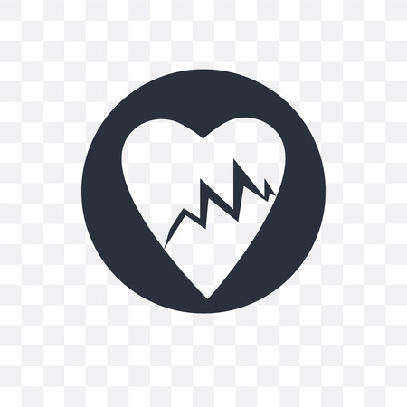 Lifeline of heartbeats on a paper on a clipboard vector icon isolated on transparent background, Lifeline of heartbeats on a paper on a clipboard logo concept Иллюстрация