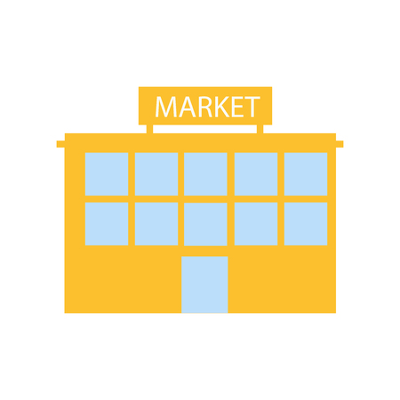 Market icon vector isolated on white background for your web and mobile app design, Market logo concept