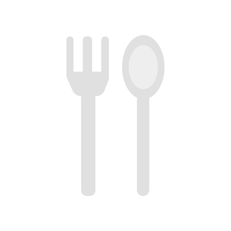 Fork icon vector isolated on white background for your web and mobile app design, Fork logo concept
