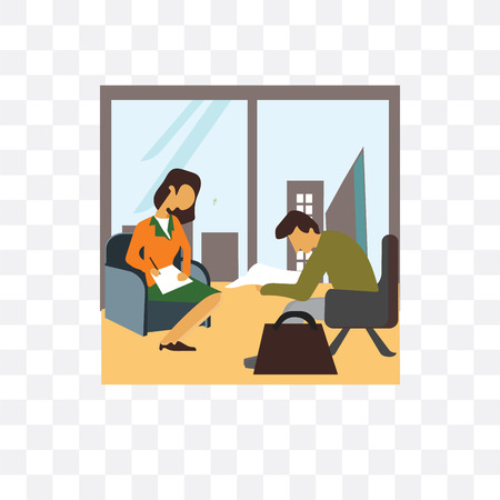 Team coworking in office vector icon isolated on transparent background, Team coworking in office logo concept