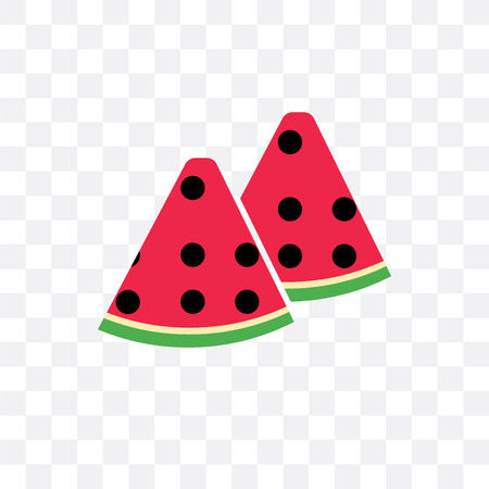 Watermelon vector icon isolated on transparent background, Watermelon concept