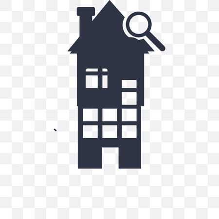 House vector icon isolated on transparent background, House logo concept Иллюстрация