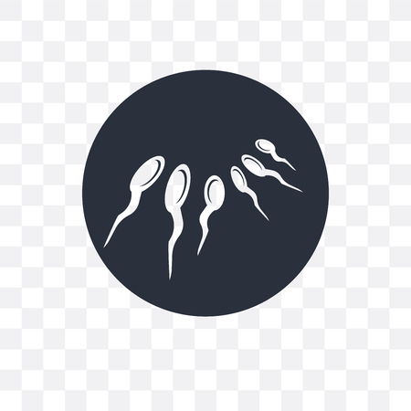 Sperm vector icon isolated on transparent background, Sperm logo concept