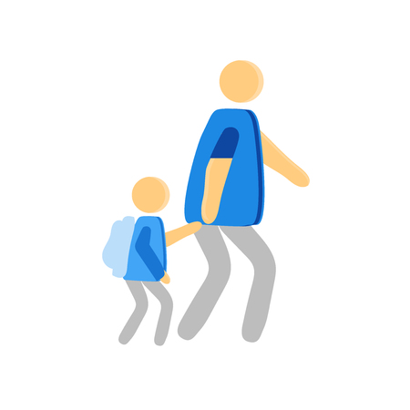 Walking to school icon vector isolated on white background for your web and mobile app design, Walking to school logo concept person