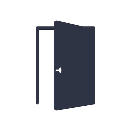Vector icono de puerta aislado sobre fondo blanco para su diseño web y aplicaciones móviles, concepto de logo de puerta