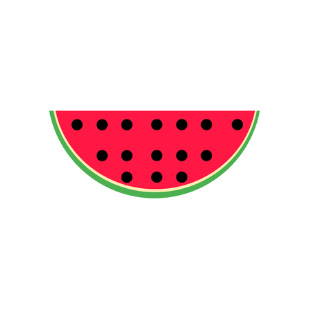 Watermelon icon vector isolated on white background for your web and mobile app design, Watermelon logo concept
